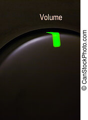 Volume Button - Hi-Fi Audio System Volume Button Close Up