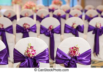Wedding hall and chairs setup