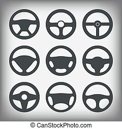 handlebars automotive icons  Steering Wheel
