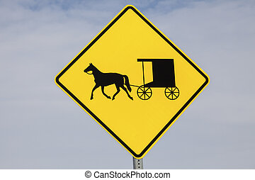 Amish carriage sign