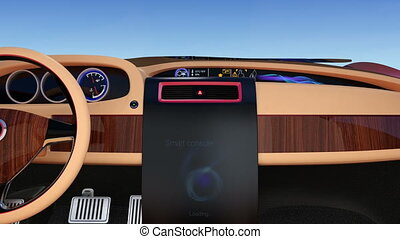Smart car console interface demo - User interface...