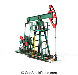 Oil pump on the white background.
