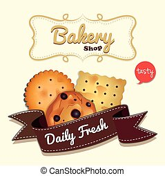 Logo design with cookies and text