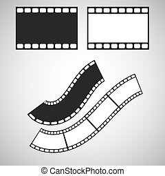 Film stripe pattern brush Blank celluloid Illustrator art...