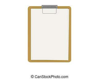 Empty board with white paper