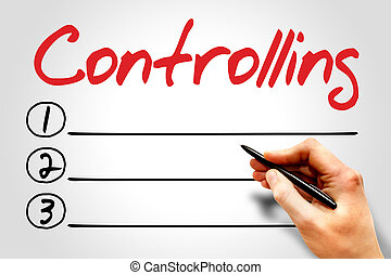 Controlling blank list, business concept