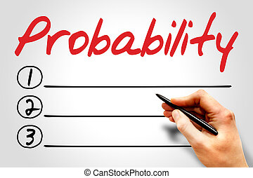 Probability blank list, business concept