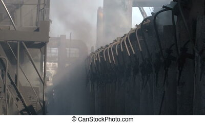 Smoke on coke oven battery - Coke and Chemicals plant cooler