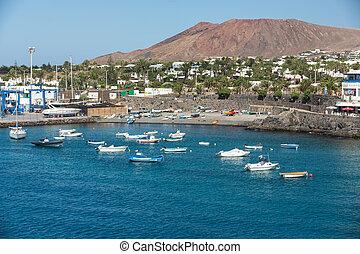 Carmen, isla, canario,  del, pesca,  Puerto, barcos,  Lanzarote, españa