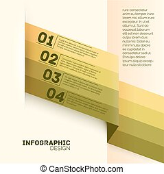 Paper options template vector illustration - Paper four...