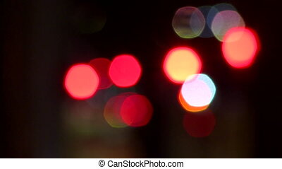 abstract light dots defocussed