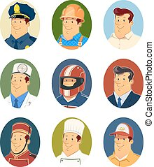 Occupations. Set of vector icons