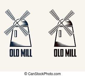 illustration old mill
