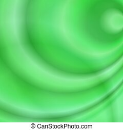 Green abstract design background with swirls