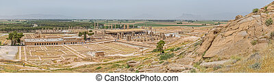 Persepolis city panorama - Ruins of old city Persepolis, a...