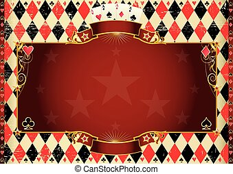 Horizontal Cards background - Horizontal Casino background A...