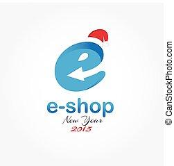 e shop new year vector design template