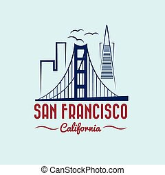 San francisco Vector clipart and illustrations