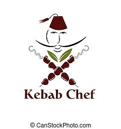 kebab chef illustration
