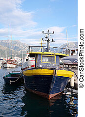 Ship in a Tivat harbor, Montenegro