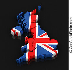 Map of United Kingdom Image with clipping path