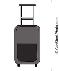 suitcase, touristic object - vector illustration of...