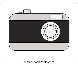 digital camera - vector illustration of digital camera
