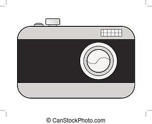digital camera - vector illustration of digital camera