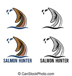 tail of salmon illustration