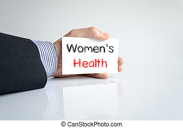 Women's health text concept isolated over white background