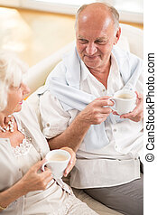 Retired couple spending time together - Photo of happy...