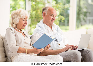 Retired man and woman - Image of retired man and woman...
