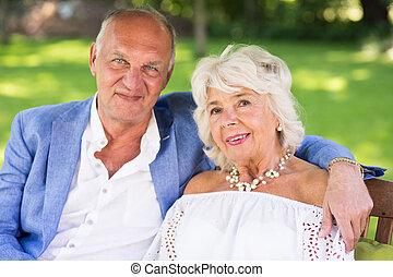 Rich elderly marriage