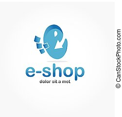 e shop vector design template