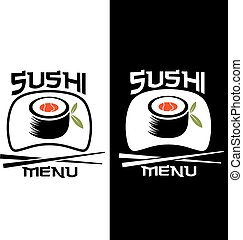 Sushi menu card template
