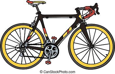 Black racing bike