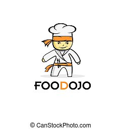 cartoon karate food chef