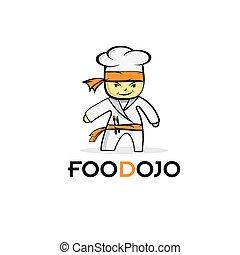 cartoon karate food chef