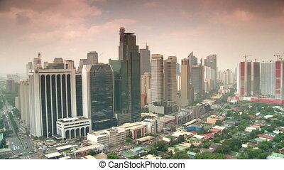 downtown manila, philippines