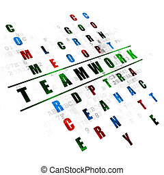 Business concept: Teamwork in Crossword Puzzle