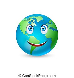 Smiling planet Earth