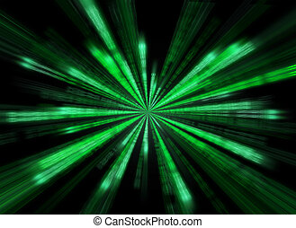 Matrix background in the form of star burst.
