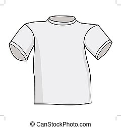 t-shirt, front view - vector illustration of t-shirt, front...