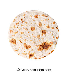 Pita isolated - Wheat flatbread aslo known as armenian...