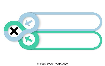 Two frames for your text and multiplication symbol