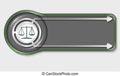 Dark button for your white text and lawyer symbol