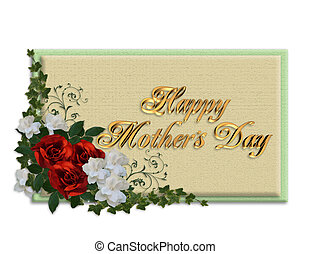 Mothers day card roses - Image and illustration composition...