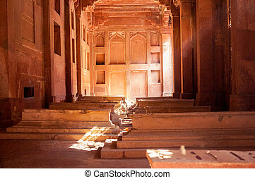 Graves inside the fatehpur sikri monument - Grave markers...