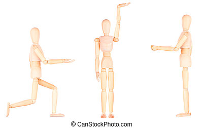 Concept movements of the people in sport, life and work,...