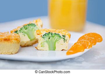 broccoli cheddar frittata - two broccoli cheddar frittata...